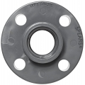 Spears 852 Series PVC Pipe Fitting, One Piece Flange, Class 150, Schedule 80, NPT Female